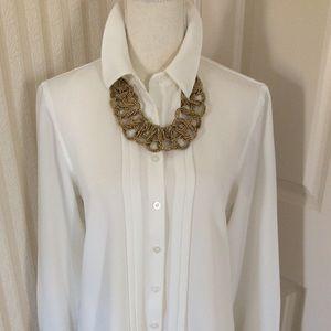 Calvin Klein White Blouse Size M
